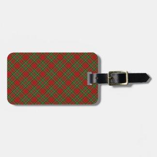 Royal Stewart Clan Tartan Designed Print Luggage Tag