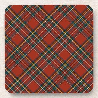 Royal Stewart Classic Red Scottish Tartan Drink Coasters