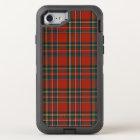 Royal Stewart Classic Red Scottish Tartan OtterBox Defender iPhone 8/7 Case
