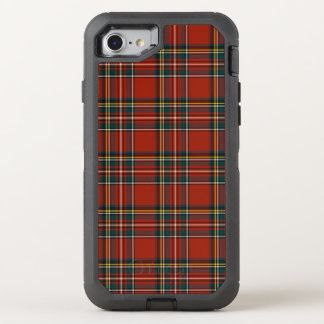 Royal Stewart Classic Red Scottish Tartan OtterBox Defender iPhone 8/7 Case