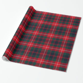 Royal Stewart Dark Red Tartan Pattern Wrapping Paper