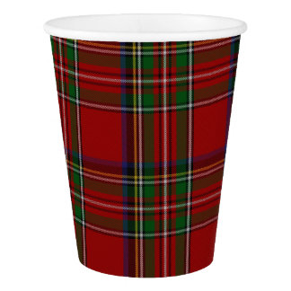 Royal Stewart Plaid Custom Paper Cup