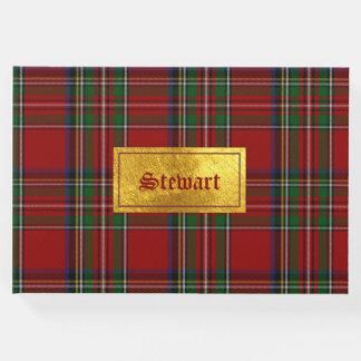 Royal Stewart Plaid Guest Book