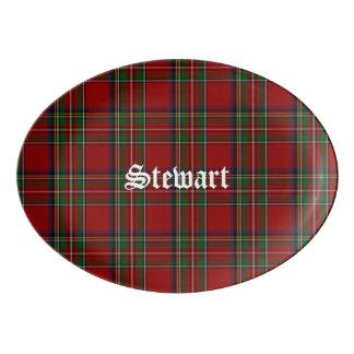 Royal Stewart Plaid Porcelain Platter