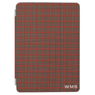 Royal Stewart Red Scottish Tartan Monogram iPad Air Cover