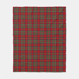 Royal Stewart Red Tartan Plaid Fleece Blanket
