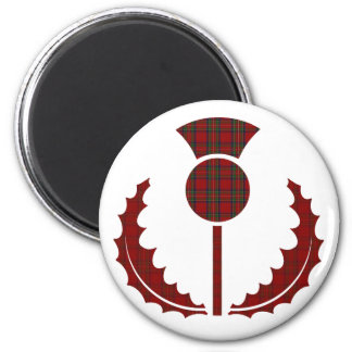 Royal Stewart / Stuart Scottish Tartan Thistle Magnet