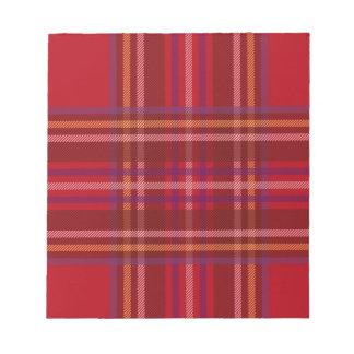Royal Stewart Tartan Christmas Pattern Notepad