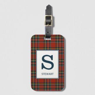 Royal Stewart Tartan Monogrammed Luggage Tag