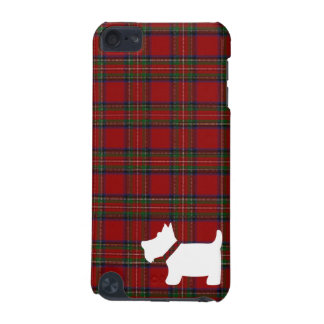 Royal Stewart Tartan Plaid Pattern and Scottie Dog iPod Touch (5th Generation) Covers