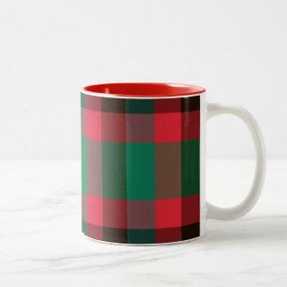 Royal Stewart Tartan Plaid Two-Tone Coffee mugs