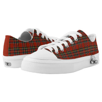 Royal Stewart Tartan Red Plaid Canvas Low Tops