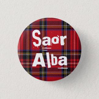 Royal Stewart Tartan Saor Alba Scotland Pinback 3 Cm Round Badge
