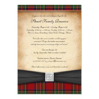 Royal Stuart Tartan Family Reunion Invitation