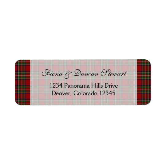Royal Stuart Tartan Return Address Label
