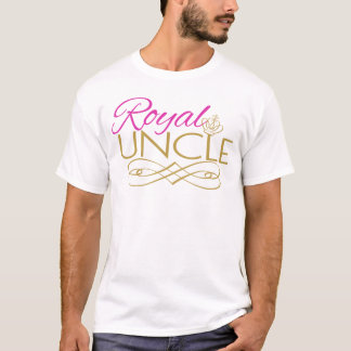 Royal UNCLE Pink Baby Shower T Shirt