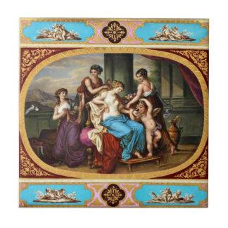 Royal Vienna Vintage Design Tile Cupid and Maidens