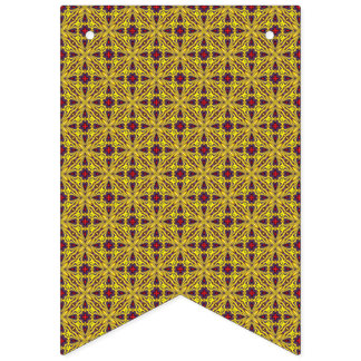 Royal  Vintage Purple Kaleidoscope  Bunting Flags