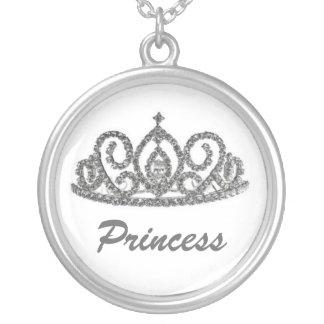 Royal Wedding/Bride's Tiara Silver Plated Necklace