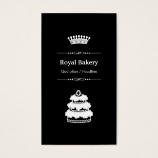 Royal Wedding Cake - Professional Royal Crown Business Card