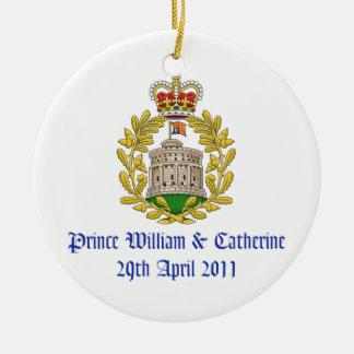 Royal Wedding Ceramic Ornament