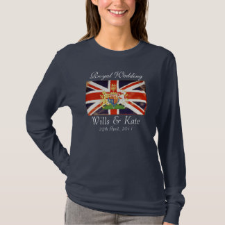 Royal Wedding Coat Of Arms T-Shirt (Navy)