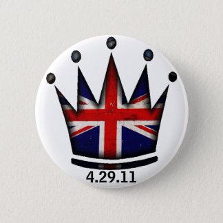 Royal Wedding Kate & William 6 Cm Round Badge
