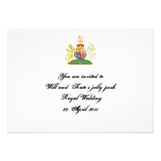 Royal Wedding party invite