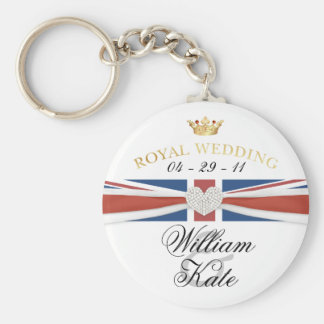 Royal Wedding - Prince William & Kate Collectibles Basic Round Button Key Ring