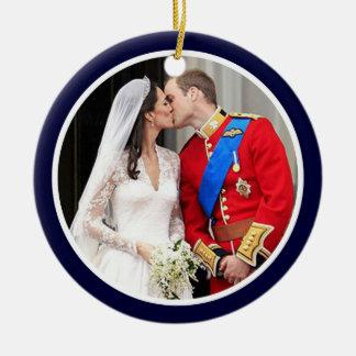 Royal Wedding Round Ceramic Decoration