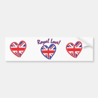 Royal Wedding, Royal Love, Union Jack Heart Bumper Sticker