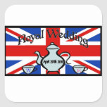 Royal Wedding Square Sticker