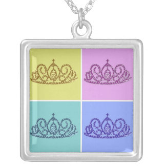 Royal Wedding/Tiaras/crowns Silver Plated Necklace