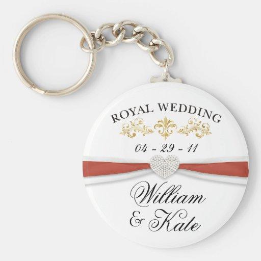 Royal Wedding - William & Kate Elegant Keepsakes Key Chains