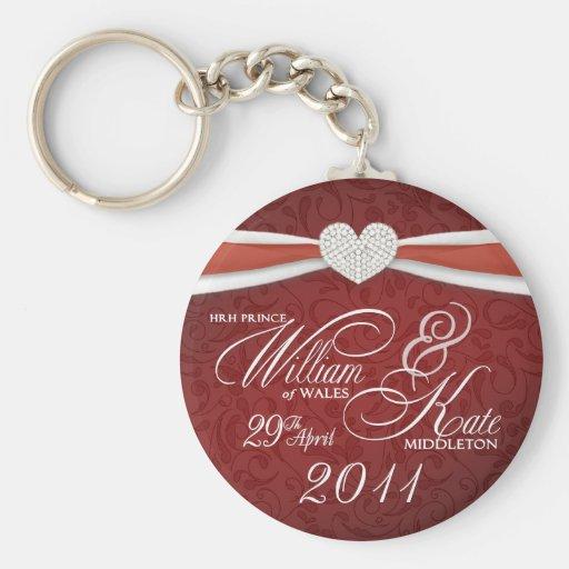 Royal Wedding - William & Kate Key Rings Keychains
