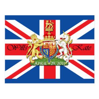 Royal Wedding Wills and Kate Postcard
