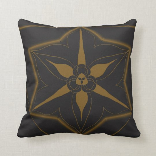 Royal wild duck subtle gold cushion