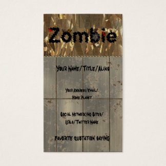 Royal Zombie Business Card