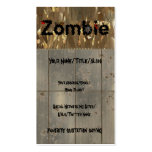 Royal Zombie Pack Of Standard Business Cards