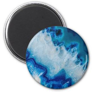 Royally Blue Agate Magnet