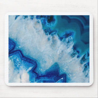 Royally Blue Agate Mouse Pad