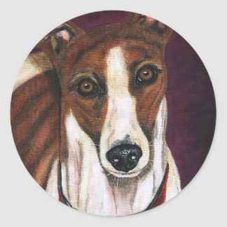 Royalty - Greyhound Art Round Sticker