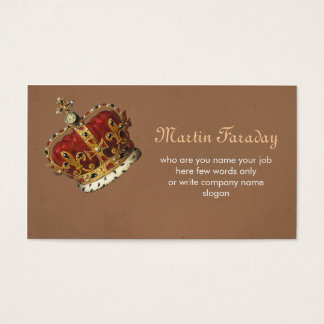 royalty king crown business card