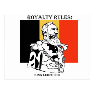Royalty Rules King Leopold II - Postcard