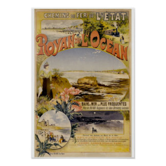 Royan sur L'Ocean Beachside Poster