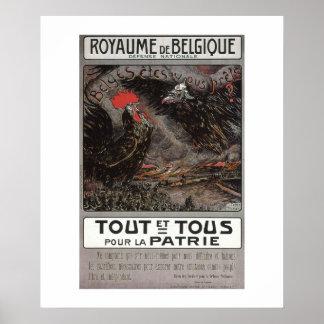 Royaume Belgique Propaganda Poster