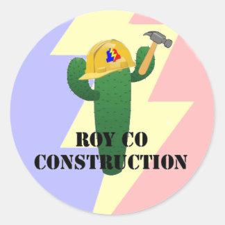 Royco Construction Classic Round Sticker