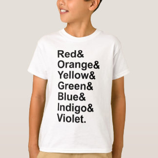 ROYGBIV Red Orange Yellow Green Blue Indigo Violet T-Shirt