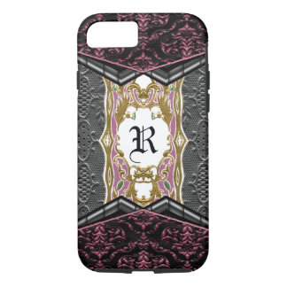 Rozzy Gothic Chic Unique Baroque Monogram iPhone 7 Case