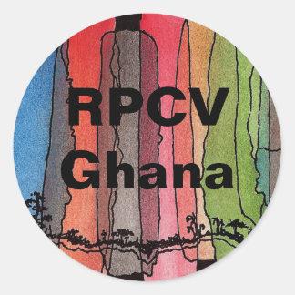 RPCV Ghana Round Sticker